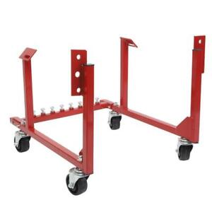 1000lb Engine Cradle Hoist For Chevy Chevrolet Repair Stands W Rotary Wheels