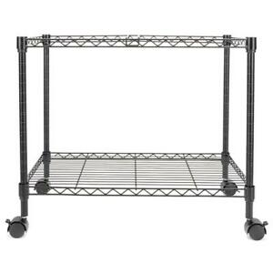 Single Tier Metal Rolling Mobile File Cart 23 6 X 12 6 X 18 Black