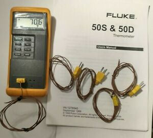 Fluke 50d K j Digital Thermometer Dual Input K Or J type Thermocouple