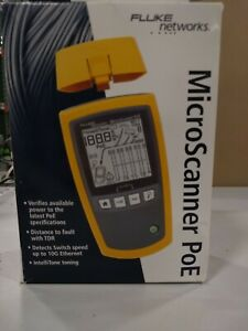 Fluke Networks 5018508 Ms poe Microscanner Copper Cable Verifier And Poe Tester