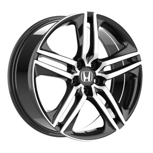 Set Of 4 Wheels 18 Inch Black Rims Fits Et45 Honda Accord V6 2000 2002