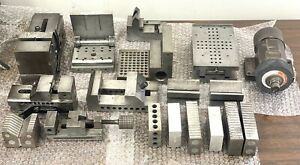 Mega Lot Of Machinist Tools Grinding Fixtures Grinding Holders Vice