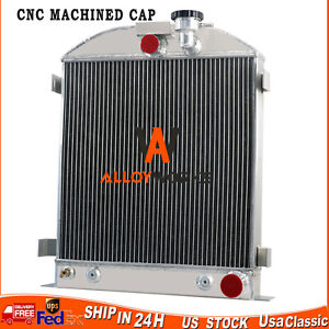 4 Row Radiator For Chevy Engine Ford Grill Shells 3 Chopped 1937 1938 1939 1940