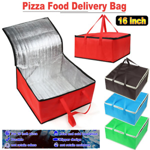 Insulated Pizza Delivery Bag Food Storage Thermal Takeaway Handheld Meal Holder