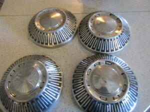 1965 1966 Ford Dog Dish Hubcaps 10 5 Mancave Wall Hanger Rat Rod