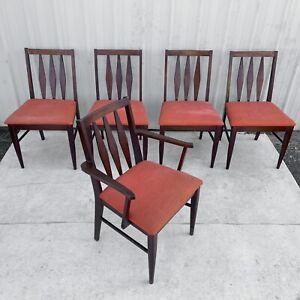 Mid Century Modern Dining Chairs Set Of Five