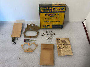 1959 Studebaker V 8 2 Barrel Carnuretor Repair Kit Stromberg 380954 6 123 Ww