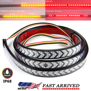 Truck Tailgate Strip 60 Led Sequential Turn Signal Brake Tail Reverse Light Bar