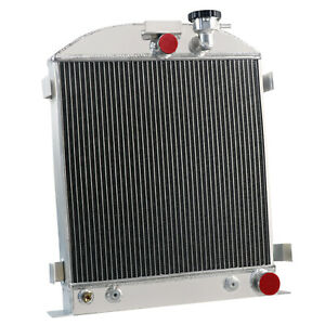 3 Row Aluminum Radiator Fits Ford Grill Shells 3 chopped Chevy Engine 1939 1940