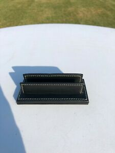 Coach Black Leather Counter Top Display Business Card Holder Desk Accessory