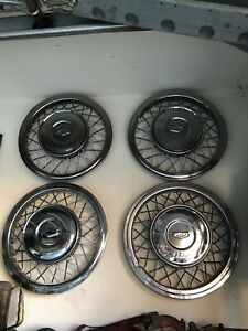 1954 Chevy Accessory Spoke Hubcaps 1955