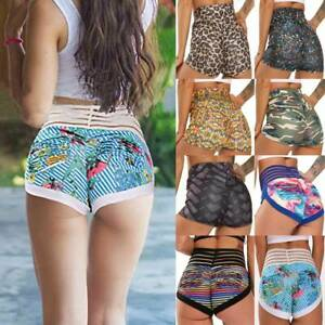 Women High Waist Yoga Shorts Butt Lift Sports Fitness Push Upl Booty Hot Pants