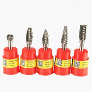 5pcs 1 4 65mmx25mm Shank Carbide Tungstens Steel Engraving Bits Cnc Router Tool