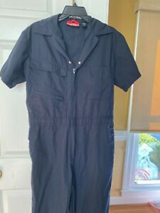 Painters Coveralls Overall Blue Medium 36 X 28 Short Sleeve Workwear Protective