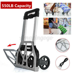 550 Lbs Portable Cart Folding Dolly Push Truck Hand Warehouse Trolley Luggage