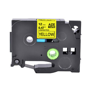 1pk Tz 631 Label Tape Black Yellow Tze 631 For Brother P touch Pt 1880 12mm 8m
