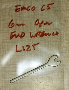 Emco Compact 5 Lathe Compound Slide Open End Wrench L12t