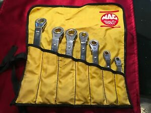 Mac Tools Offset Ratcheting Box Wrench Set 7 Pc Set Case