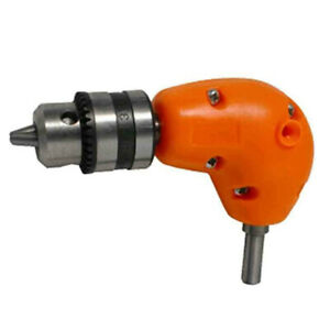 Right Angle Drill Attachment Chuck Adapter Electric Power Cordless 3 8 90 Degree
