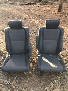 2004 Honda Element Lh Rh Front A Seats Gray Olive Green Manual Oem Used