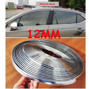 Moulding Strip Trim Auto Parts Replacement 12mmx15m Bright Silver Bumper