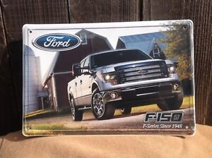 Embossed 18 X 12 Ford F 150 Series Truck Metal Sign Since 1948 Garage Shop