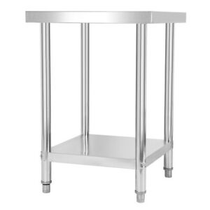 24 x24 Commercial Kitchen Prep Work Table Stainless Steel Table For Restaurant