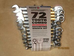 Matco Tools Metric 72 Tooth Combo Reversible Ratcheting Wrench Set S7grrcm12