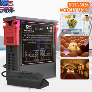 Stc 3028 Ac110 220v Dual Digital Temperature Humidity Controller Thermostat