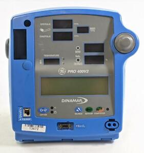 Ge Dinamap Pro 400v2 Patient Monitor With Temp Spo2 Nibp And Printer