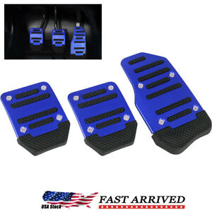 Universal Blue Non slip Automatic Gas Brake Foot Pedal Pad Cover Car Accessories