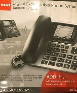 Rca Unison U1100 4 line Cordless Phone Black Wireless Accessory Free Shipping