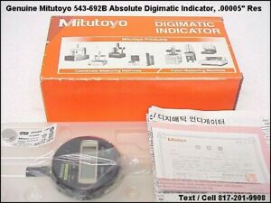 New Mitutoyo 543 692b digimatic indicator Flat Back Inch mm 00005 001mm res