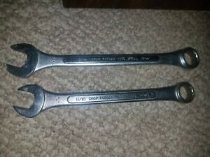 Trucraft Combination Wrench Pair Sae 11 16 3 4 Drop Forged Tool Steel