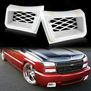 Fit 2003 2007 Chevy Silverado 1500 Painted White Air Duct Front Bumper Caliper