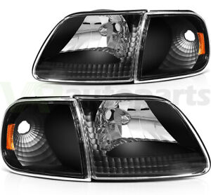 For 1997 2003 Ford F 150 97 02 Ford Expedition Headlights Left Right Sides Set