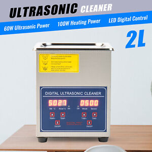 Preenex Ultrasonic Cleaner 2l W Digital Timer And Heater 304 Stainless Steel