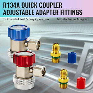 R134a Quick Coupler Adapters High Low Ac Recharge Fittings Manifold Gauge