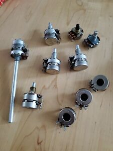 Lot Of 10 Potentiometers Cts Clarostat 50 200 100 K
