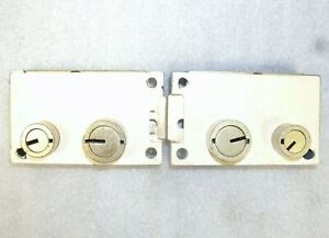 Lot Of 2 Diebold Model 17570 Safe Deposit Locks Used zero Bited no Keys