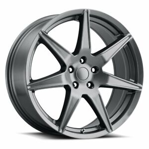 4 Wheel Rims For Ford Mustang 2015 Grey 20x9 20 Inch
