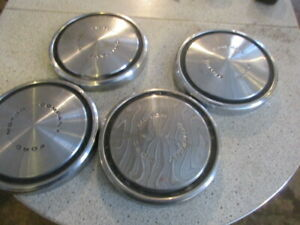Ford Motor Company 10 5 X 1 3 8 Dog Dish Hubcaps Ratrod
