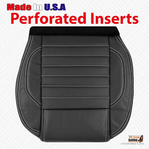 2010 2011 2012 2013 2014 Ford Mustang Gt Driver Bottom Leather Seat Cover Black