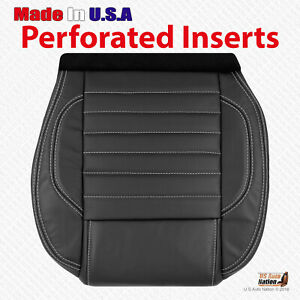 2012 13 2014 Ford Mustang Gt Convertible Driver Bottom Leather Seat Cover Black