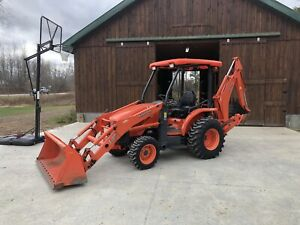 Kubota L39 4x4 4wd Tractor Loader Backhoe Package