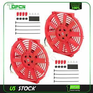 10 Electric Radiator Condenser Cooling Fan Universal For 1996 2000 Bmw 328i