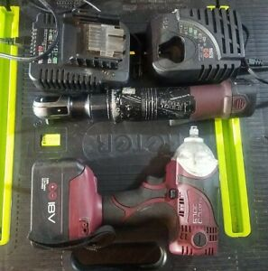 Matco Tools 3 8 Drive 18v Impact Wrench Ratchet 18v Battery Charger Lot Set