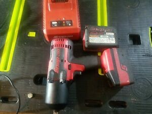 Snap On Lithium Ion Ct8850 18v 18 Volt Cordless 1 2 Impact Wrench Kit Ct 8850