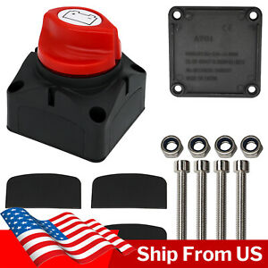 For Off road Car Boat 300a Battery Isolator Switch Disconnect Power Cut Off Kill