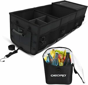 Oedro Collapsible Portable Car Trunk Organizer For Suv Truck W Removable Cooler